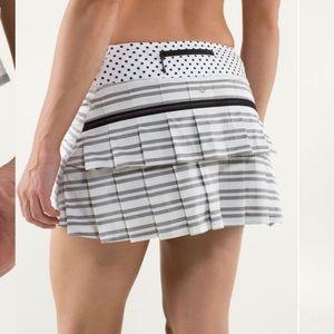 Lululemon Striped Pace Setter Skirt